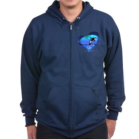 Orca Zip Hoodie (dark)