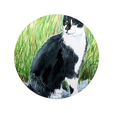 "Louie the Tuxedo Cat 3.5"" Button (100 pack)"