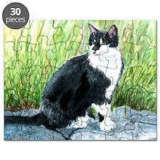 Louie the Tuxedo Cat Puzzle