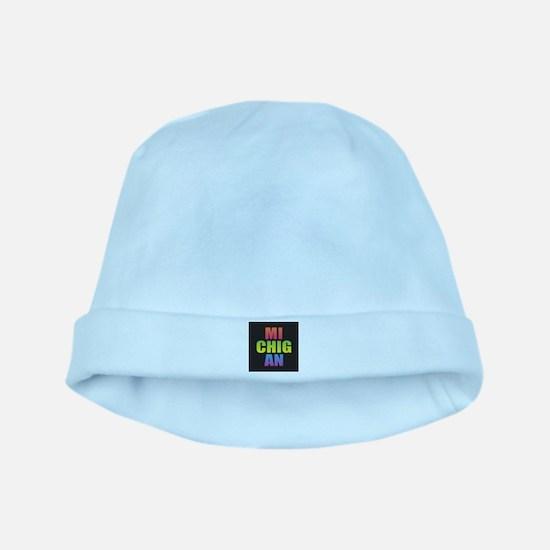 Michigan Black Rainbow Baby Hat