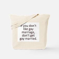 Gay marriage Tote Bag