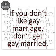 Gay marriage Puzzle