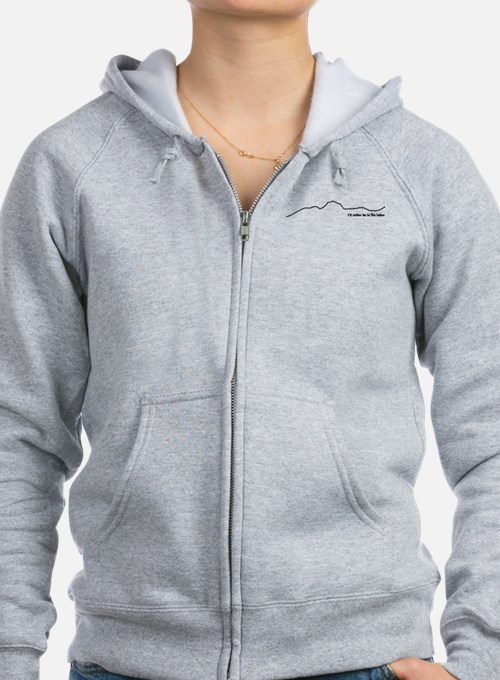 Id rather be in The Lakes (Dark on Light) Zip Hoodie
