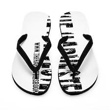 Black font (on its side) Flip Flops