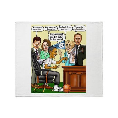 ObamaNCAA5.png Throw Blanket