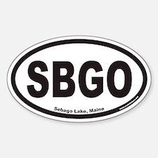 Sebago Lake Maine SBGO Euro Oval Decal