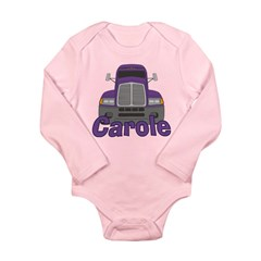 Trucker Carole Long Sleeve Infant Bodysuit