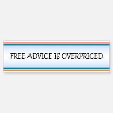 Free Advice Bumper Bumper Bumper Sticker