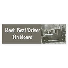 Backseat Driver Bumper Bumper Sticker