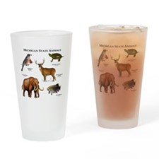 Michigan State Animals Drinking Glass