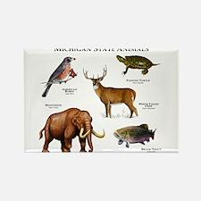 Michigan State Animals Rectangle Magnet