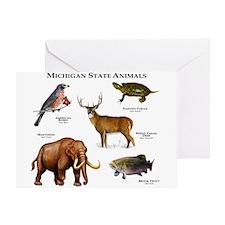 Michigan State Animals Greeting Card
