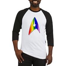 Rainbow Trek Badge Art Baseball Jersey