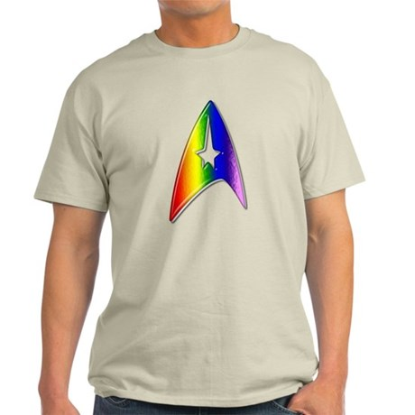 Rainbow Trek Badge Art Light T-Shirt