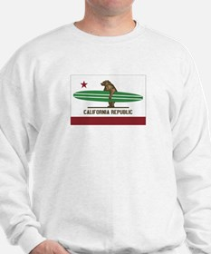 California Surfing Bear Longboard Flag Jumper