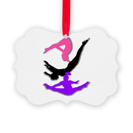 Trampoline Gymnast Picture Ornament