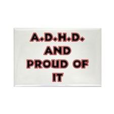 ADHD and Proud Rectangle Magnet