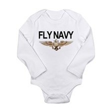 Fly Navy Wings Body Suit