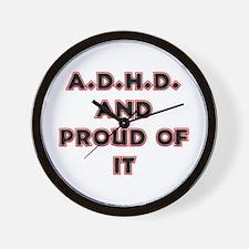 ADHD and Proud Wall Clock