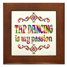 Tap Dancing Passion Framed Tile