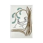 Girl in a Tree Reading Rectangle Magnet