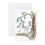 Girl in a Tree Reading Greeting Cards (Package of