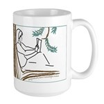 Girl in a Tree Reading Large Mug