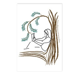 Girl in a Tree Reading Postcards (Package of 8)