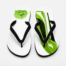 lime stiletto shoe and rose.jpg Flip Flops