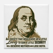 Franklin On Security Tile Coaster