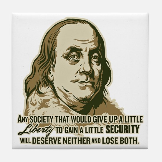 Franklin On Security Tile Coaster