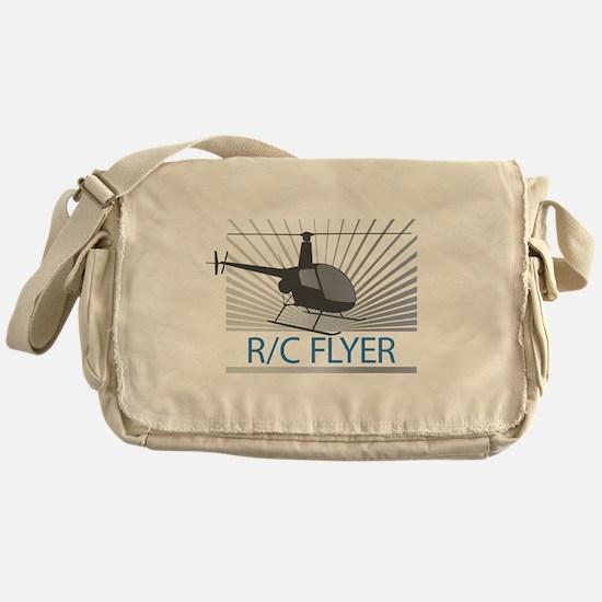 Radio Control Flyer Helicopter Messenger Bag