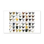 48 Hens Promo 22x14 Wall Peel