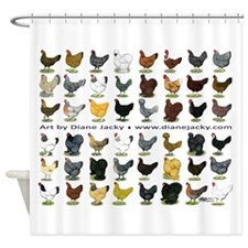 48 Hens Promo Shower Curtain