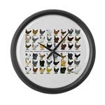 48 Hens Promo Large Wall Clock
