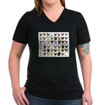 48 Hens Promo Women's V-Neck Dark T-Shirt