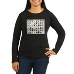 48 Hens Promo Women's Long Sleeve Dark T-Shirt