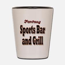 Fantasy Sports Bar Shot Glass