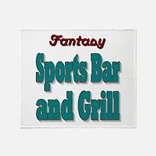Fantasy Sports Bar Throw Blanket