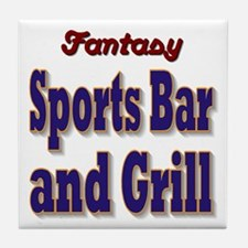 Fantasy Sports Bar Tile Coaster