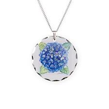 Hydrangea 1 Necklace Circle Charm