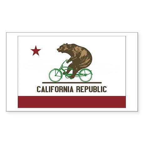 California Beach Cruiser Bear Sticker (Rectangle)
