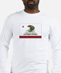 California Beach Cruiser Bear Long Sleeve T-Shirt