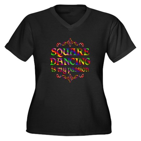 Square Dancing Passion Women's Plus Size V-Neck Da