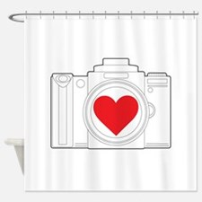 Camera Heart Shower Curtain