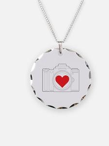 Camera Heart Necklace