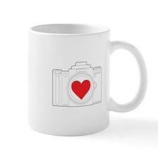 Camera Heart Mug
