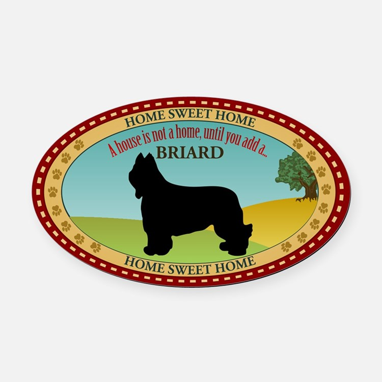 Briard Oval Car Magnet
