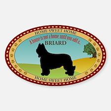 Briard Sticker (Oval)