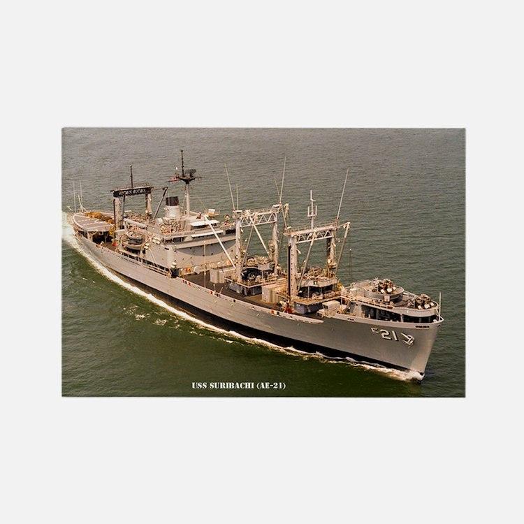 USS SURIBACHI Rectangle Magnet